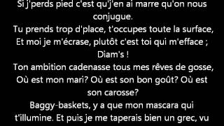Diam's - Mélanie  ( Paroles, lyrics )