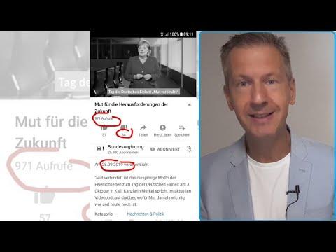 ????????Tag der Deutschen Einheit! Wie viele wollen Merkel dazu hören????????! Tagesschau in Erklärungsnot