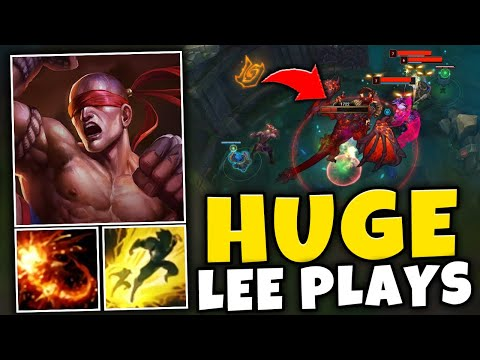 HUGE LEE SIN PLAY TO WIN THE GAME FOR MY TEAM!! (CARRYING 4V5) - League of Legends