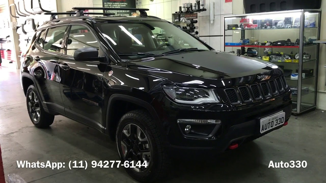 jeep compass 2018 rack thule wingbar rack thule jeep compass auto330 acessorios