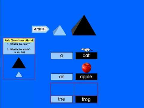 Montessori Software Mecs Grammar Module 1 Demo Youtube