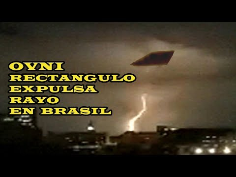 OVNI RECTANGULAR GIGANTE DESTELLA RAYO SOBRE RIO DE JANEIRO BRASIL 13 ENERO 2020