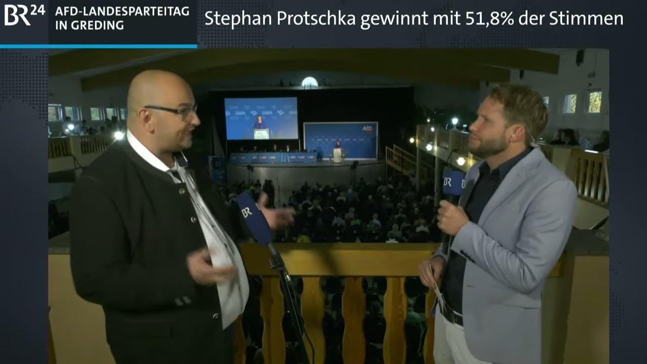 Download BR24live: AfD-Landesparteitag in Greding | BR24