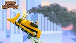 Turbo Dismount #3 Гонки ТРЮКИ и АВАРИИ машинок Прикольный Мультик Игра для детей