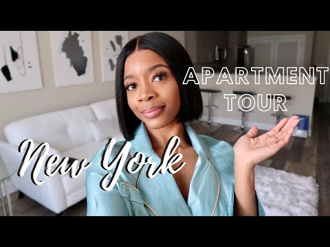 finally!!-my-first-apartment-tour-ny-|-modern-+-glam