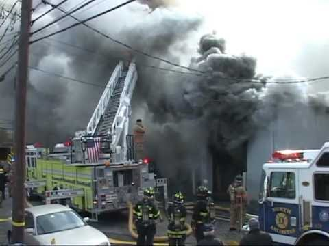 North Arlington,nj Fire Department Multiple Alarm Fire