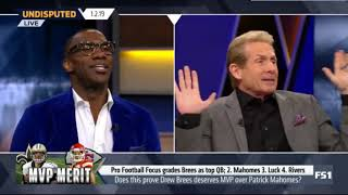 Skip Bayless DEBATE Shannon  Does this prove Drew Brees deserves MVP over Mahomes   Undisputed