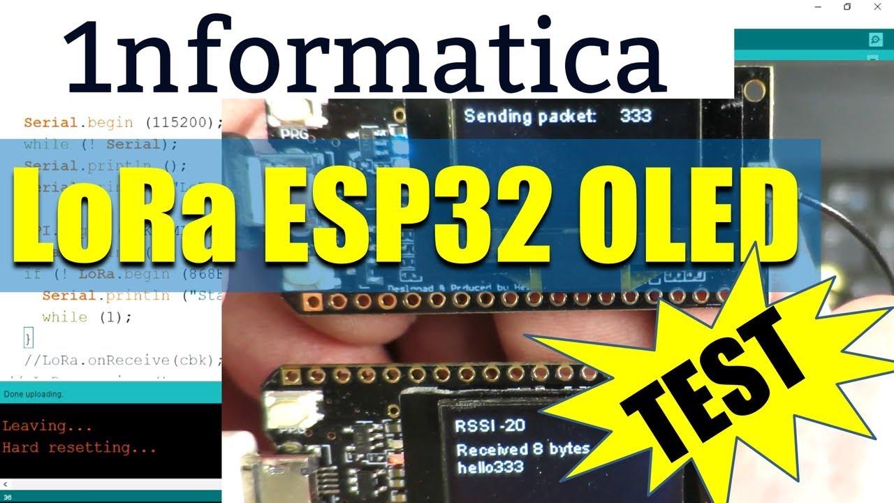 LoRa ESP32 OLED Setup and First Test Wemos TTGO IoT Project From Banggood
