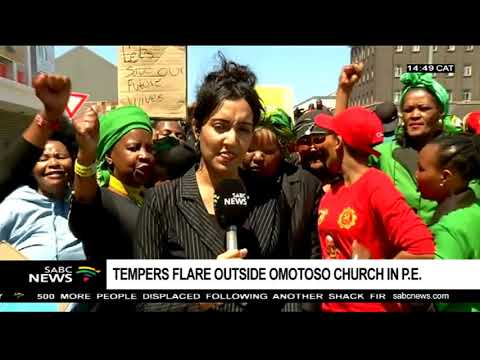 Tempers flare outside Omotoso Church