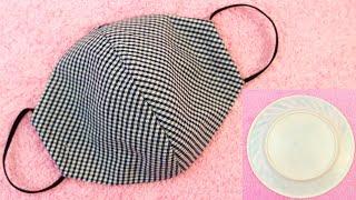 Как легко сделать защитную маску для лица без швейной машины и чертежа из ткани