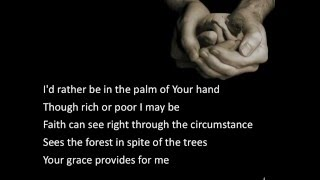 In The Palm of Your Hand ~ Alison Kraus ~ lyric video YouTube Videos