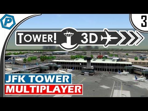 Tower3D Pro | Multiplayer Air Traffic Control Simulator | Rush Hour | KJFK | Tower Mode | #3