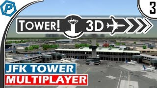 Tower3D Pro | Multiplayer Air Traffic Control Simulator | Rush Hour | KJFK | Tower Mode | #3