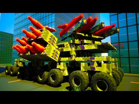 Massive 27 Rocket Firing Gun Truck in Brick Rigs!  - Brick Rigs Workshop Creations Gameplay