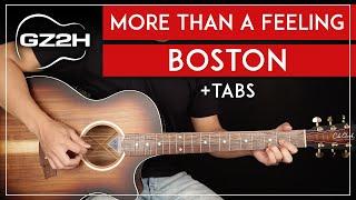 More Than A Feeling Guitar Tutorial Boston Guitar Lesson  All Guitar Parts 