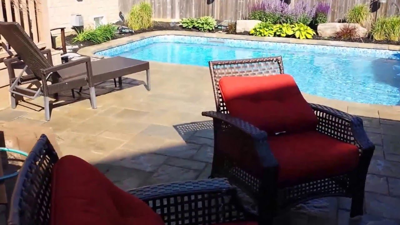 in ground swimming pool and backyard makeover youtube