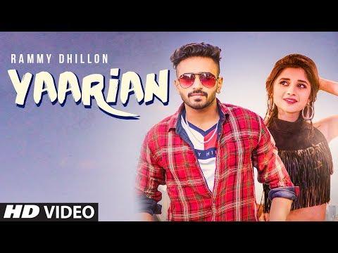 YAARIAN Video Song | Rammy Dhillon Ft. Kanika Maan | New Punjabi Song 2018 | T-Series