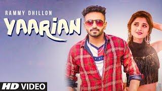 YAARIAN Song | Rammy Dhillon Ft. Kanika Maan | New Punjabi Song 2018 | T Series