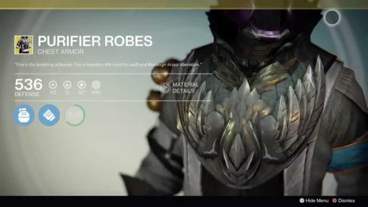 Destiny Voidfang Vestments Exotic Warlock Chest Armor - YouTube