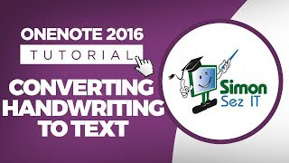 How to Convert Handwriting to Text in OneNote 2016