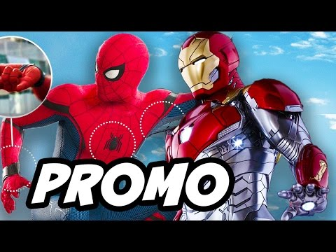 Spider Man Homecoming Promo and New Iron Man Armor Explained