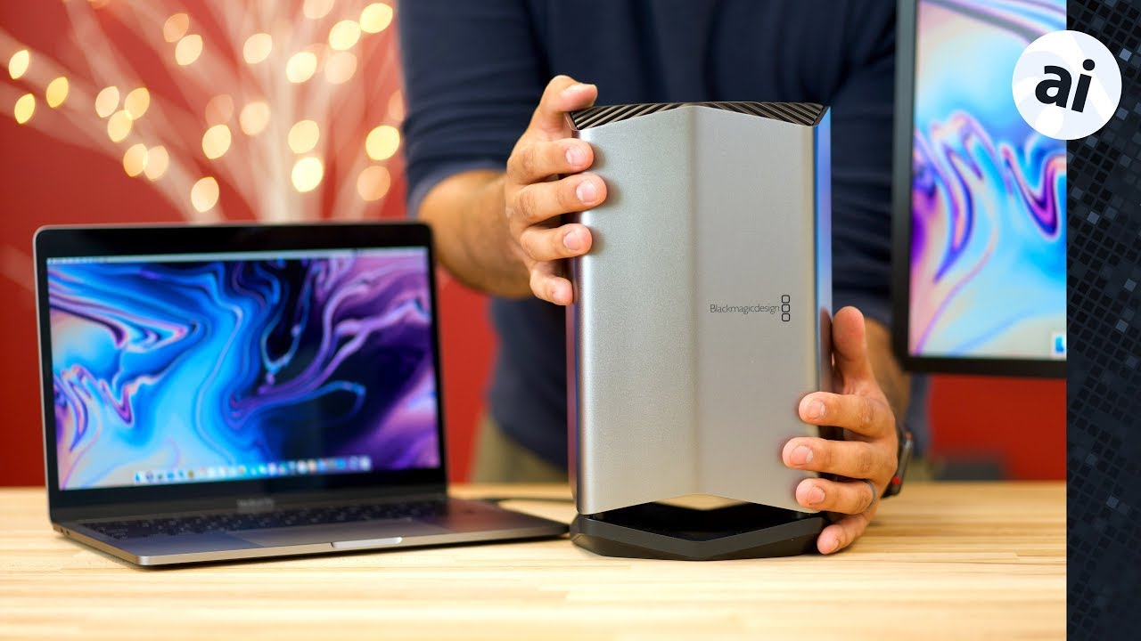 Hands on with the new Apple and Blackmagic Thunderbolt 3 eGPU