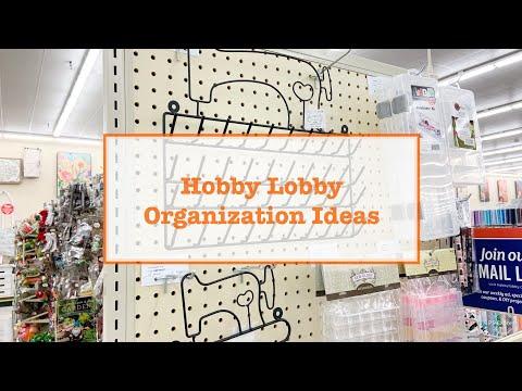 Hobby Lobby Organization Ideas