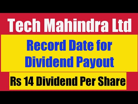 Tech Mahindra Ltd Record Date For Dividend Payment It Sector Multibagger Stock 2018 2019 Youtube