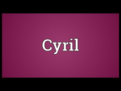 Cyril Meaning