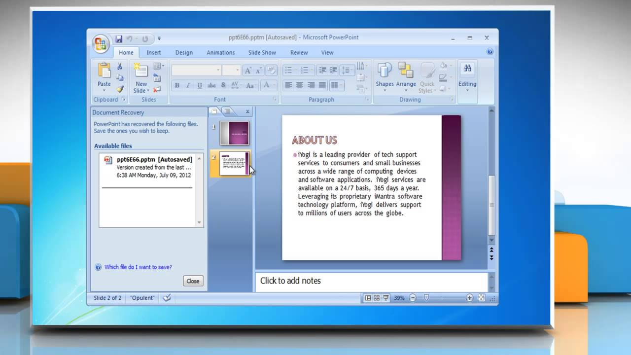 excel document recovery 2007