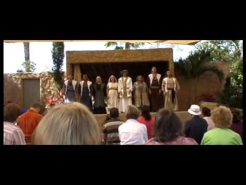 First miracle of Jesus at the Holyland Experience 2009 part 2