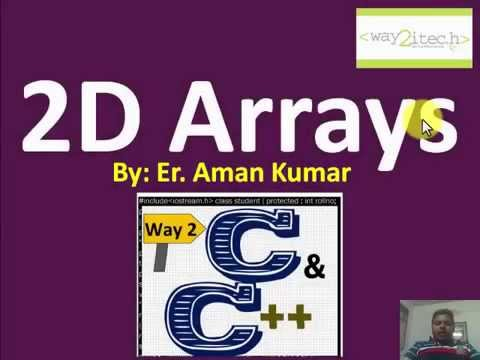 21  2D Arrays in C and Cpp Programming by Aman Kumar