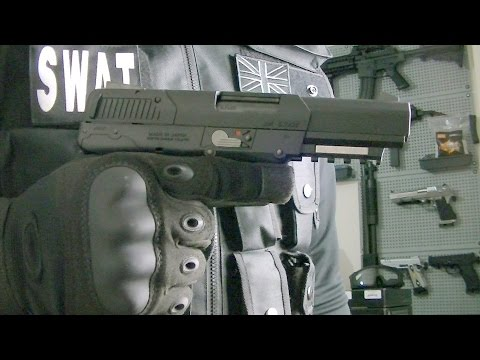 TOKYO MARUI FN 5-7 GAS BLOWBACK PISTOL UNBOXING PROS AND CONS / SHOOTING TEST