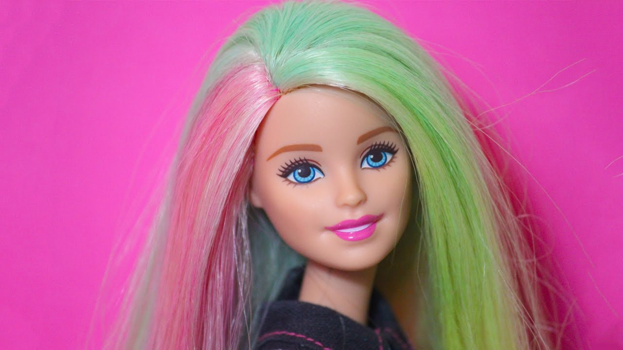 Barbie Mix 'N Color Doll Review! - YouTube