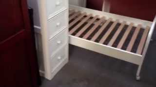 Gavin White Twin Loft Bed With Desk Chest
