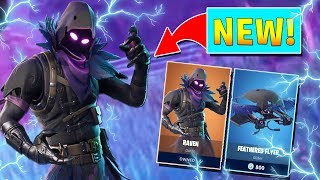 *NEW* RAVEN SKIN IN FORTNITE BATTLE ROYALE!