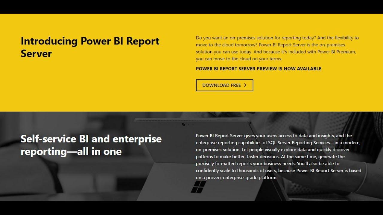 First look at Power BI Report Server - Microsoft Power BI