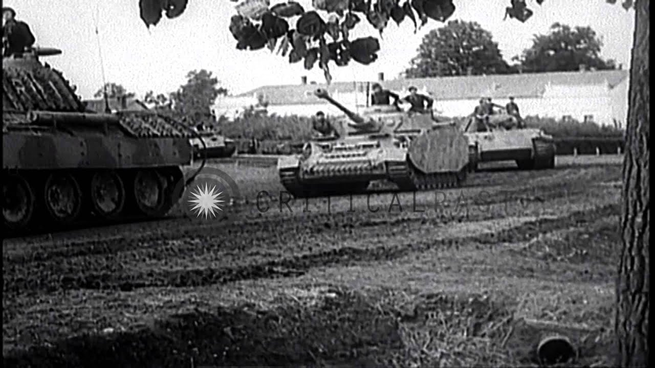 german tanks attacking soviet allied forces during world war ii on