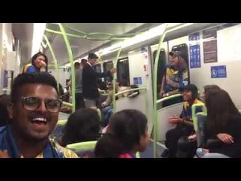 Inside Melbourne Metro Train... Lankan fans fun .