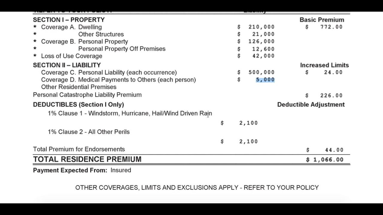 Denton Texas Home Insurance Declaration Explained - YouTube