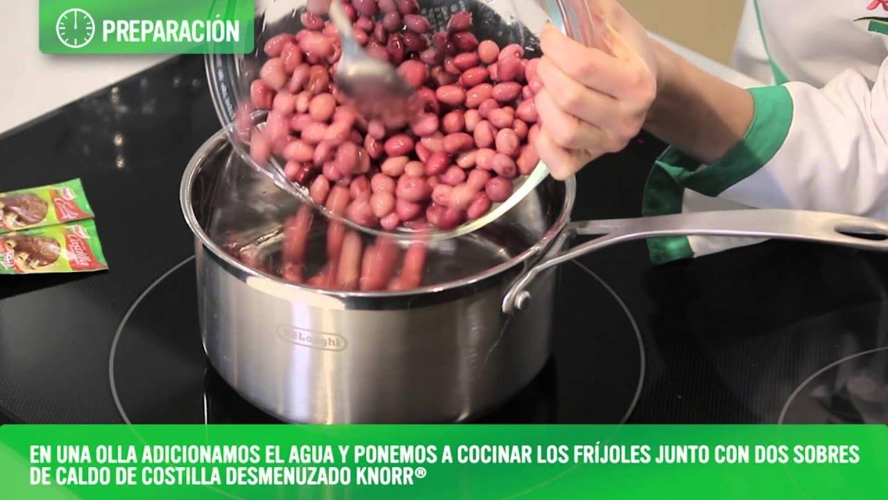 como hacer frijoles rancheros colombianos