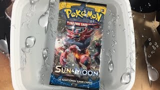 Pokemon Experiment: LEAVING A BOOSTER PACK IN WATER FOR 1 DAY!