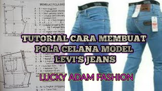Video Teori Cara Membuat Pola Celana MDL Levis,Lucky Adam Fashion download MP3, 3GP, MP4, WEBM, AVI, FLV Mei 2018