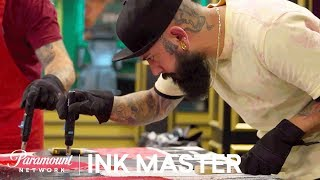 Wax On Wax Off Testing Composition - Flash Challenge  Ink Master Return of the Masters