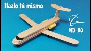 Como hacer un avion de pasajeros con palillos de helado
