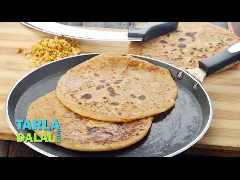Cheese Paratha Recipe, Indian Breakfast Recipe by Tarla Dalal