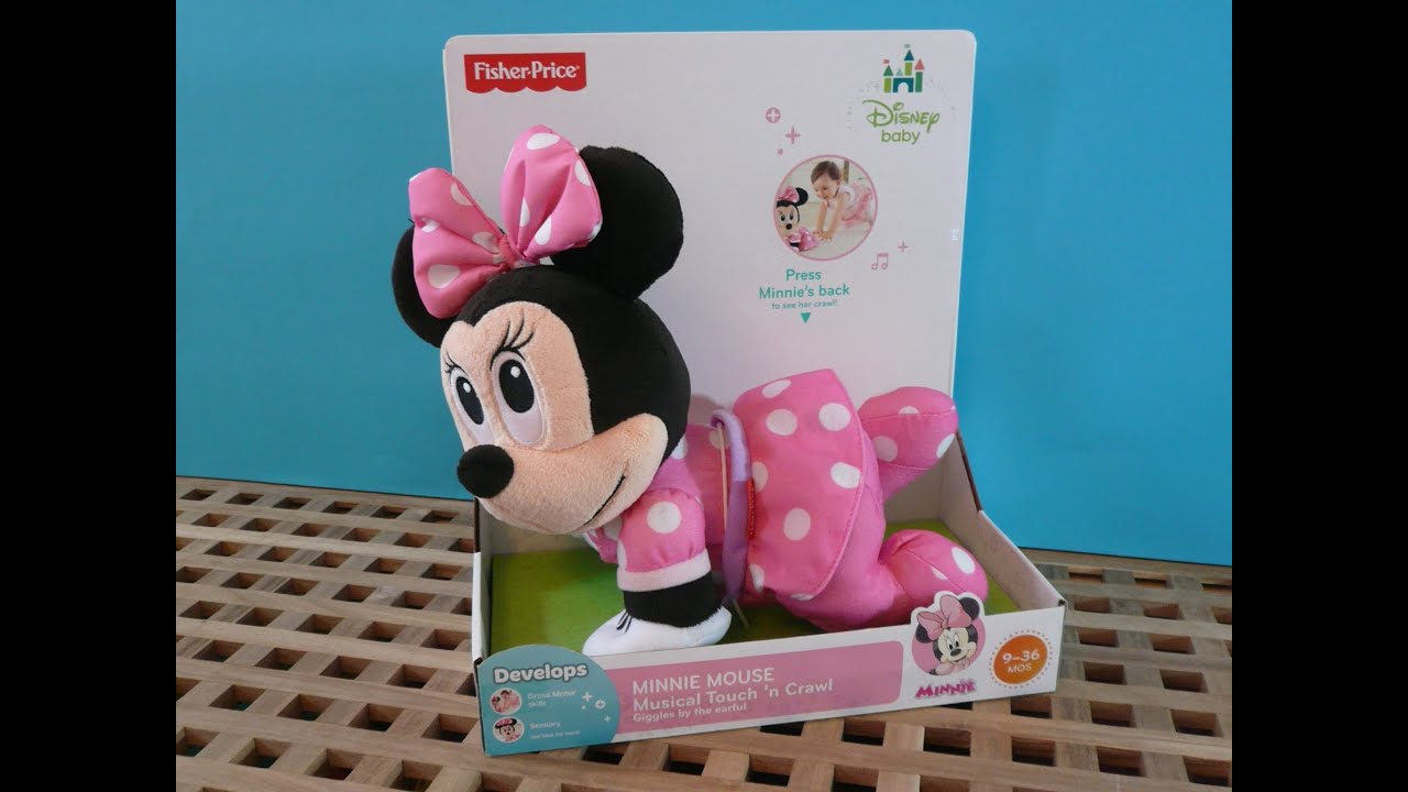 Minnie Mouse Toys For Toddlers : Disney baby minnie mouse musical touch n crawl crawling