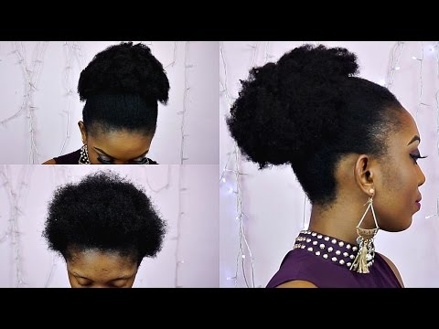 How to Natural Looking Fake Bun Tutorial On Short Hair