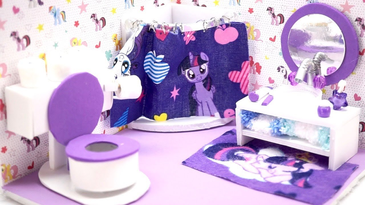 My Little Pony Bathroom | Diy Miniature Dollhouse My Little Pony Bathroom With Toilet