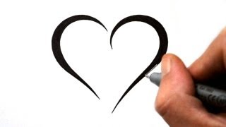 heart tattoo simple designs draw tribal hearts drawings easy outline tattoos cool drawing cliparts outlines clipartmag open sample library clipart